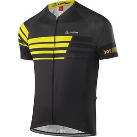 Löffler Hotbond Reflective Koszulka kolarska, krótki rękaw Mężczyźni żółty/czarny